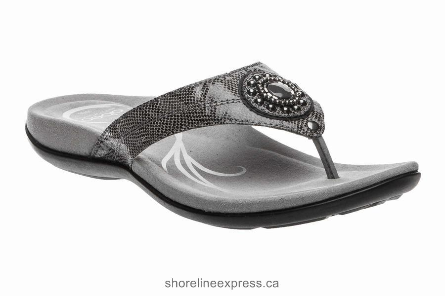 Authentic ABEO Brisa Post Pewter Women's Sandals