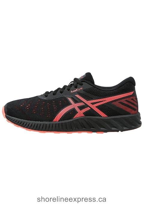Save ASICS FUZEX LYTE - Neutral running shoes Black/Flash Coral/Onyx Women