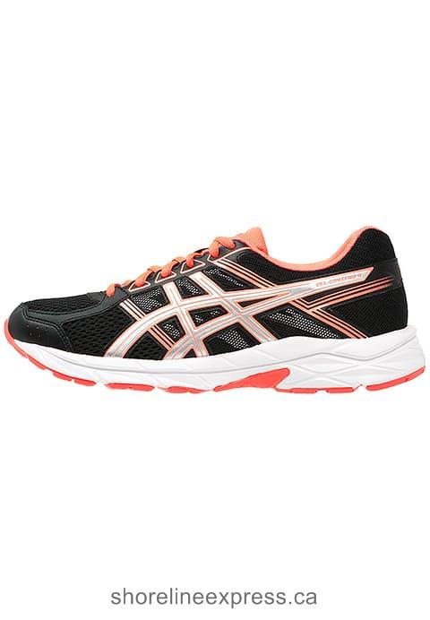 Buy classic ASICS GEL-CONTEND 4 - Neutral running shoes Black/Silver/Flash Coral Women