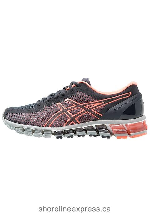 The Best ASICS GEL-QUANTUM 360 2 - Neutral running shoes Women India Ink/Flash Coral/Midgrey