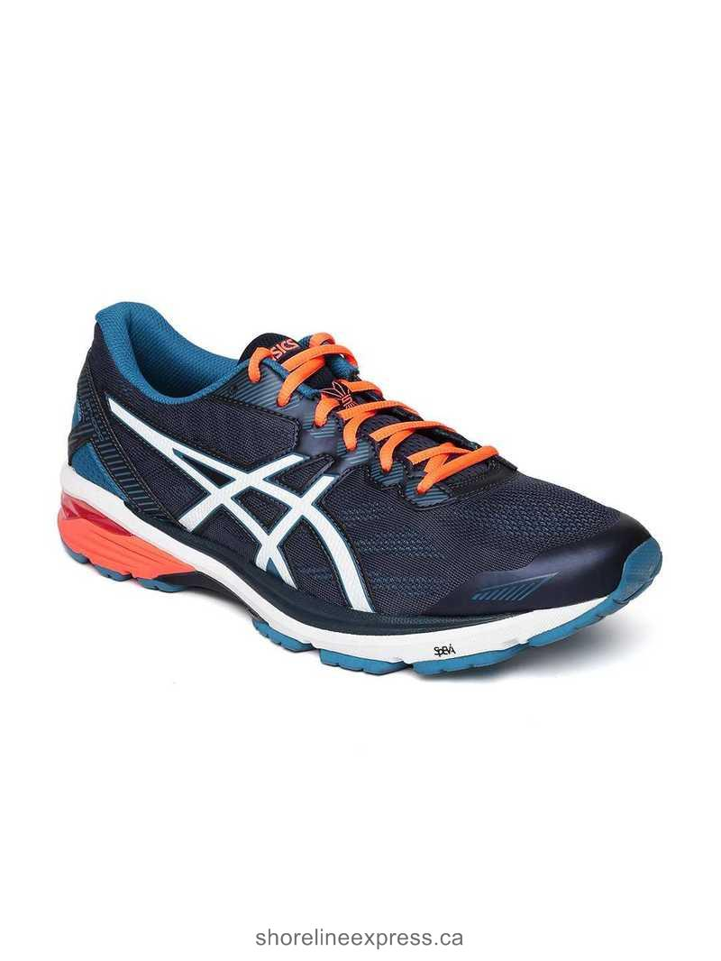 Buy authentic ASICS Men Navy GT-1000 5 Running Shoes