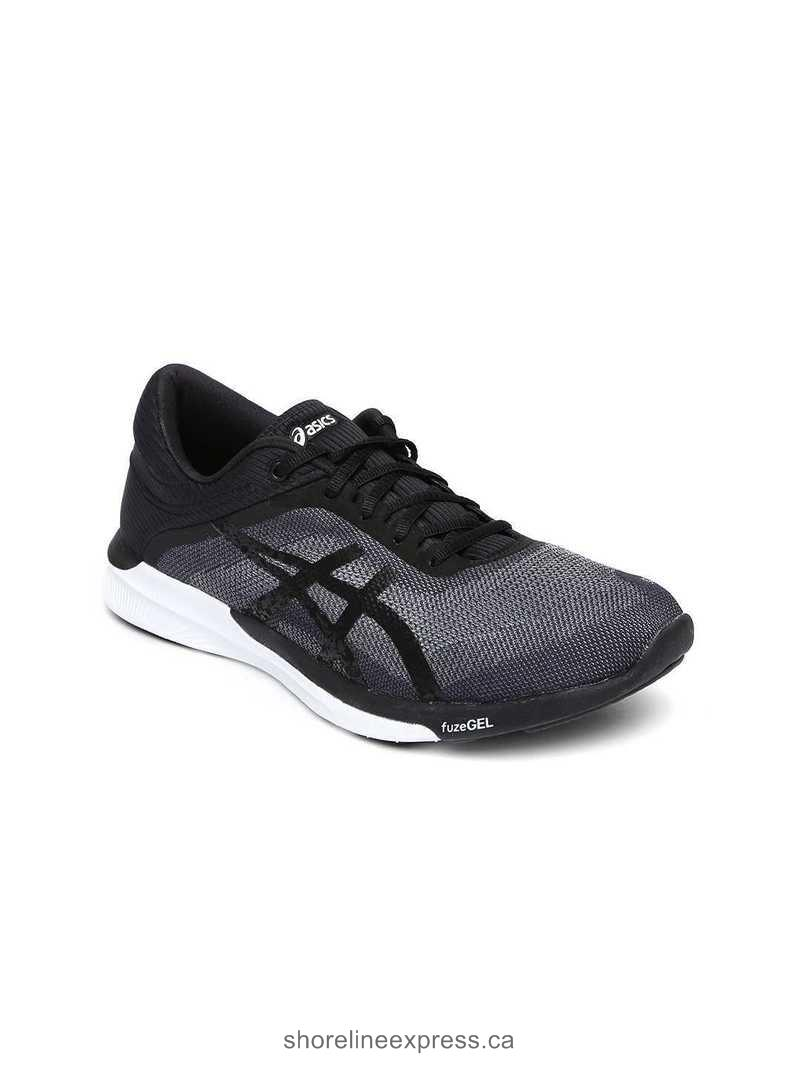 Nice appearance ASICS Women Black fuzeX Rush Running Shoes