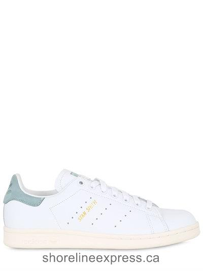 Authentic Adidas Originals Stan Smith Leather Sneakers Women White/Green