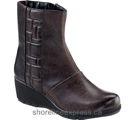 Most Popular Women Aetrex Jane Ankle Zip Boot Dark Brown Leather