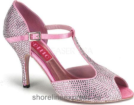 Buy comfortable Bordello Violette 01R Baby Pink Rhinestones Women