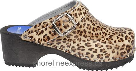 Good quality Cape Clogs Leopard Women Tan/Multi