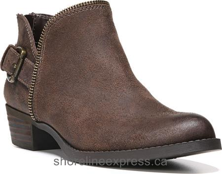 The Best Carlos by Carlos Santana Cayenne Bootie Dark Brown Synthetic Leather Women