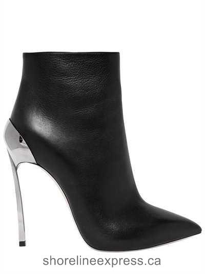 Guarantee quality Women Shoes Casadei - 120mm Techno Blade Leather Ankle Boots Black