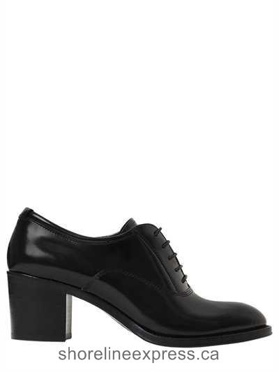 New collection Church's - 55mm Sathene Leather Lace-Up Pumps Women Shoes Black