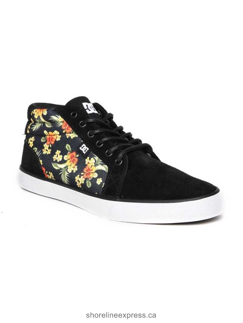Buy authentic DC Men Black Printed Suede Sneakers