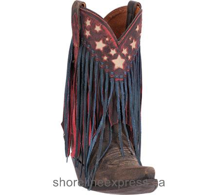 Classic Women Dan Post Boots Liberty Fringe Cowgirl Boot DP3531 Brown Leather