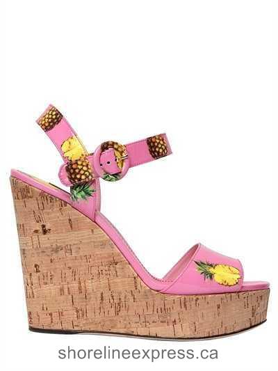 Perfect Women Dolce & Gabbana 130mm Bianca Faux Patent Leather Sandals Pink/Multi