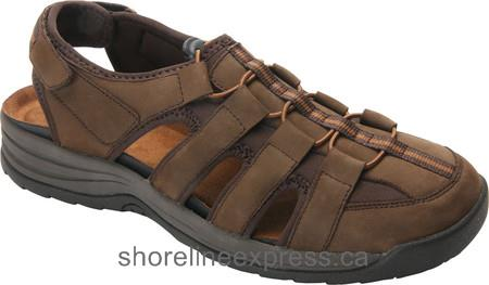Buy classic Drew Hamilton Fisherman Sandal Men Brown Nubuck