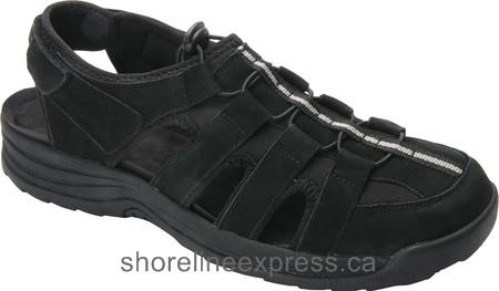 Looks expensive Drew Hamilton Fisherman Sandal Men Black Nubuck
