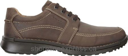 Buy Men ECCO Fusion II Tie Moc Toe Shoe Cocoa Brown Cow Oil Nubuck