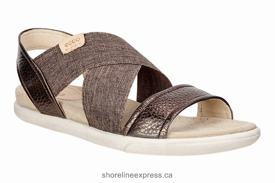 Buy genuine Ecco Damara 2-Strap Sandal Women's Sandals Licorice-powder