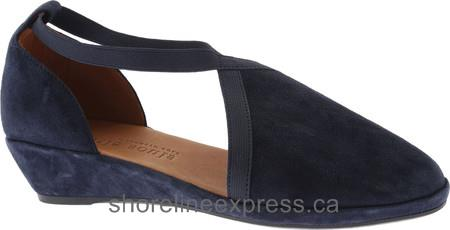 High quality Gentle Souls Natalia Demi Wedge Navy Nubuck Women