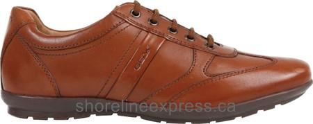 Quality branded Geox Symbol Lace Up U32A5C Men Cognac Smooth Leather