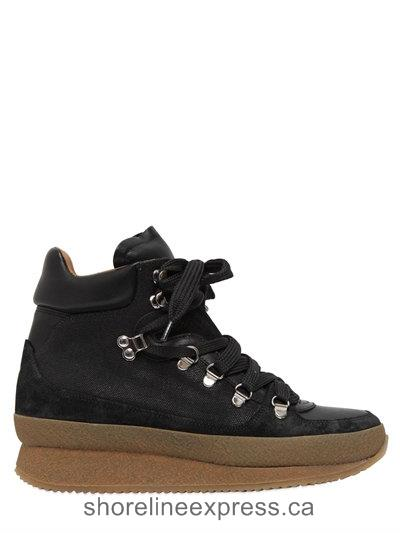 Guarantee quality Isabel Marant Etoile 50mm Brent Suede & Leather Boots Women Black