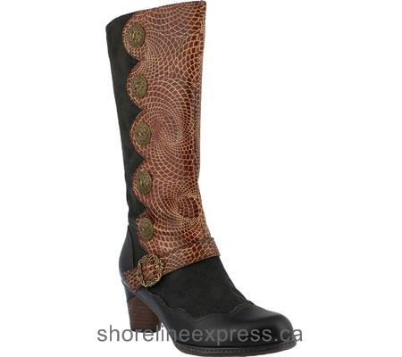The latest L'Artiste by Spring Step Pancas Boot Dark Brown Multi Leather/Textile Women