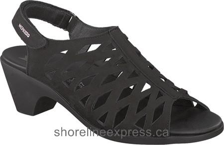 Buy classic Mephisto Candice Cage Sandal Black Bucksoft Leather Women