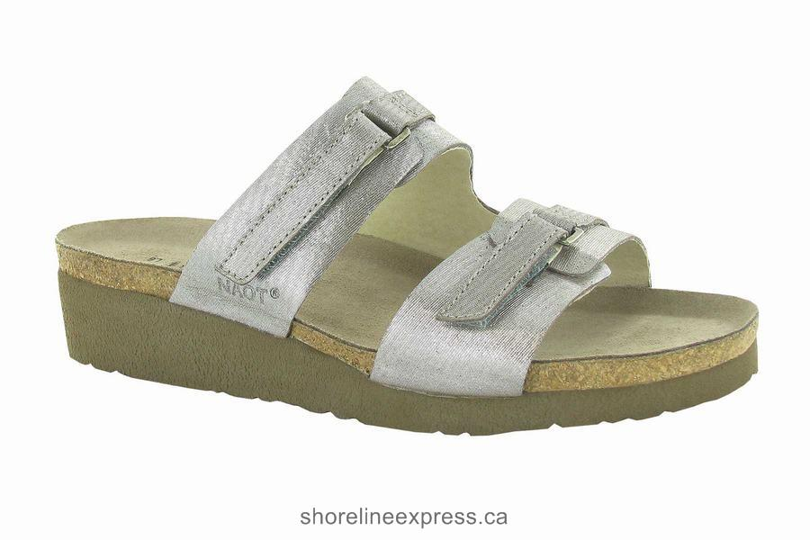 Special Offers Naot Carly Silver Threads Leather Women's Sandals