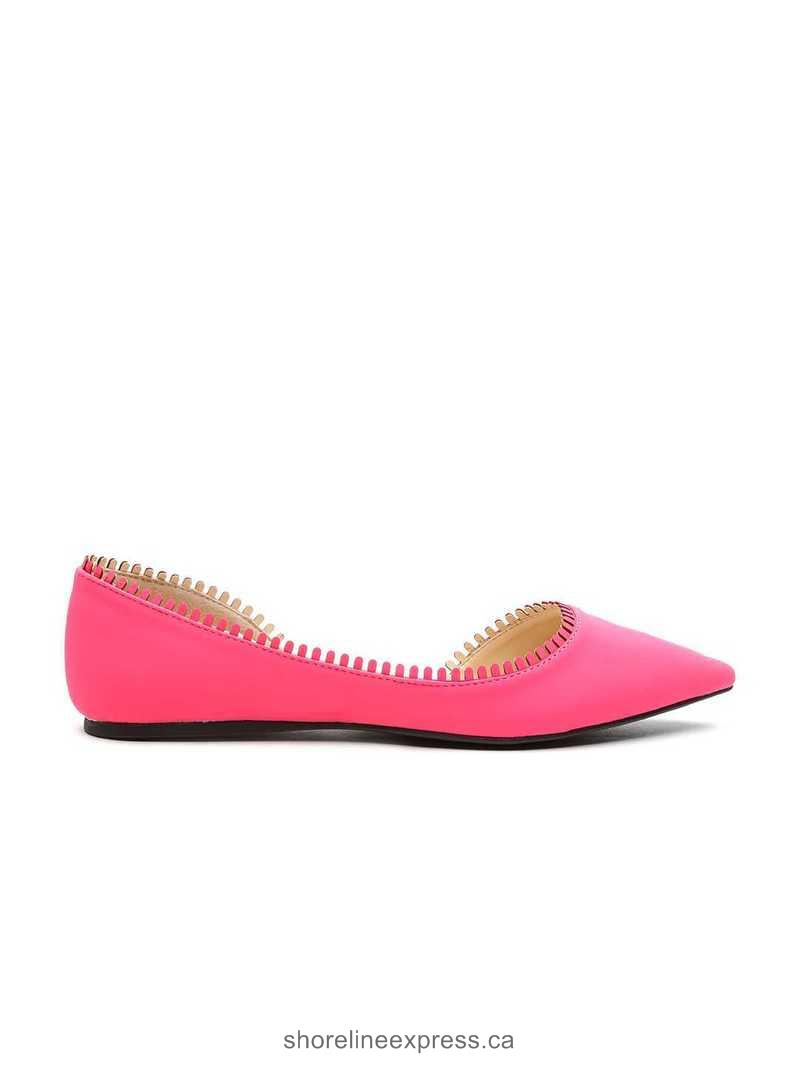 Look fabulous Qupid Women Pink Flat Shoes