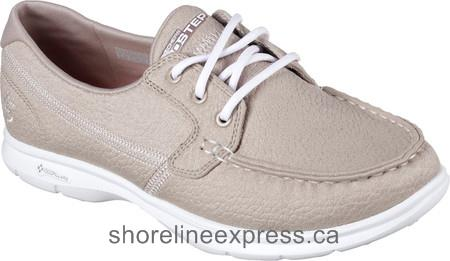 Buy genuine Skechers GO STEP Riptide Boat Shoe Natural Women
