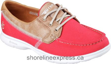 Good quality Women Skechers GO STEP Seashore Boat Shoe Red
