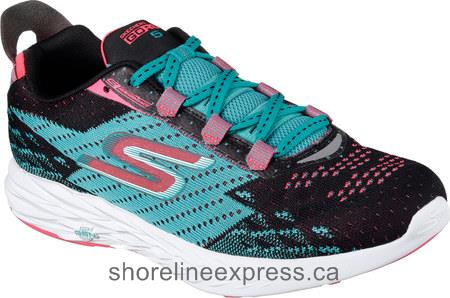 Buy comfortable Skechers GOrun 5 Running Shoe Black/Teal Women
