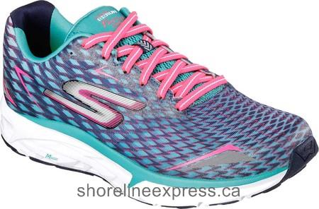 Genuine Skechers GOrun Forza 2 Running Shoe Navy/Aqua Women