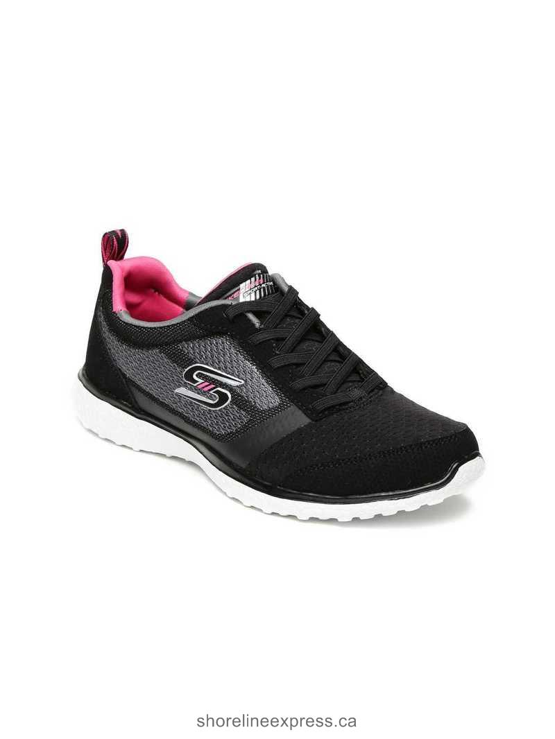 Classic Skechers Women Black & Grey Microburst Spirited Running Shoes