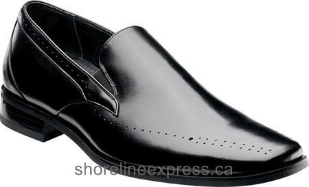 Buy authentic Men Stacy Adams Arledge Plain Toe Slip On 24994 Black Leather/PU
