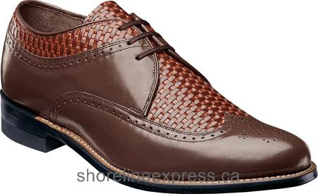 Comfortable Men Stacy Adams Dayton 00624 Brown/Tan Leather