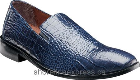 Buy comfortable Stacy Adams Galindo Plain Toe Slip On 24996 Men Blue Leather