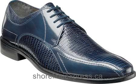 Guarantee quality Stacy Adams Graziano Bike Toe Oxford 25049 Men Blue Lizard Print Leather