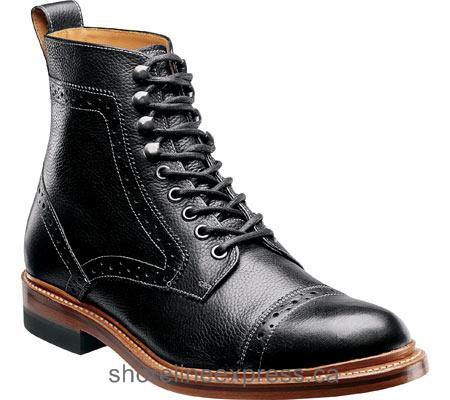 Buy designer Stacy Adams Madison II 00062 Black Milled Leather Men