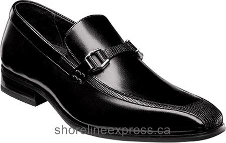 Buy gorgeous Men Stacy Adams Maxfield Bit Loafer 25013 Black Leather/Lizard Print
