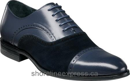 Buy classic Stacy Adams Sedgwick Cap Toe Oxford 25069 Men Navy Leather/Suede