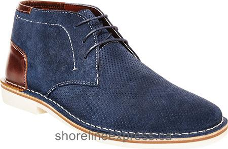 Get trending Steve Madden Hendric Chukka Boot Men Navy Suede/Leather