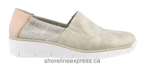 Buy comfortable Women's Rieker - 53780 Slip on Shoes Gray